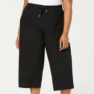 Calvin Klein M Black Striped Crop Pants RETAG CJ82